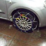 snow chains fitted